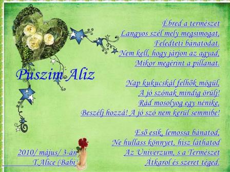Tavaszvárás Aliz