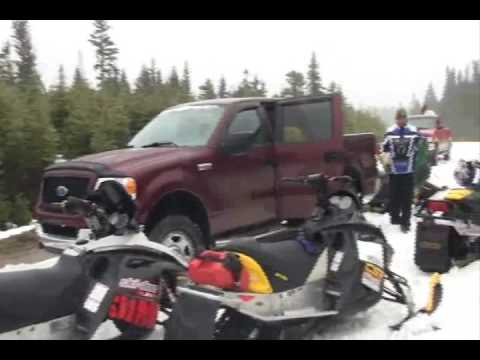 Backcountry Snowmobiling and Lobster may 9th 2009