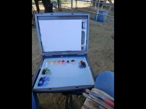 How to Recycle a Laptop to a Plein air box karenmclainstudio.com