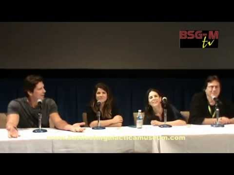 Full BSG panel: Michael Trucco, Leah Cairns, Luciana Carro, Richard Hatch - galacticon 4