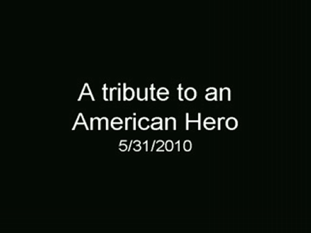 Tribute to a hero