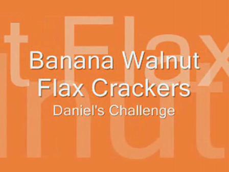 Banana Walnut Flax Crackers