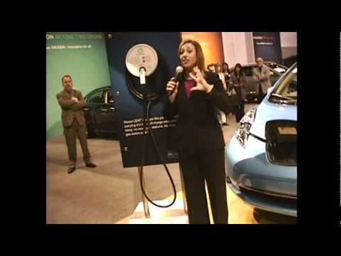 Atlanta International show the Nissan Leaf