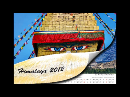 Himalaya calendar for children