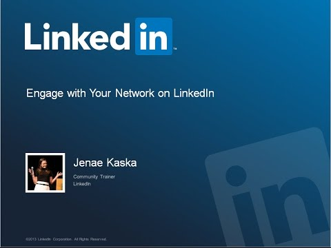 Part 2: Engage With Your LinkedIn Network