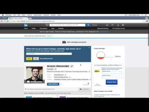 LinkedIn Tutorial 2015 - Quick Start