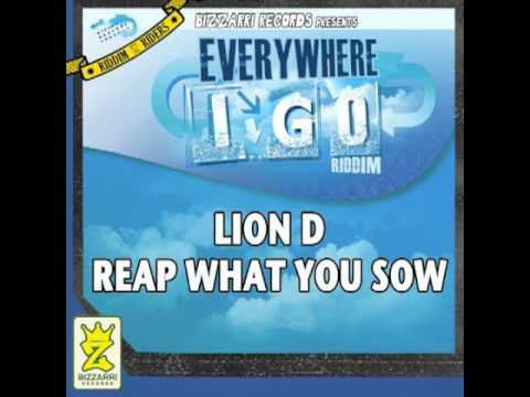 LION D - REAP WHAT YOU SOW -  EVERYWHERE I GO RIDDIM
