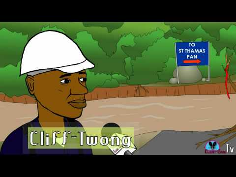 Everybody Can Cross it! (Jamaican Cartoon) Corey Godd donates a bridge to the ClifTwong Brown