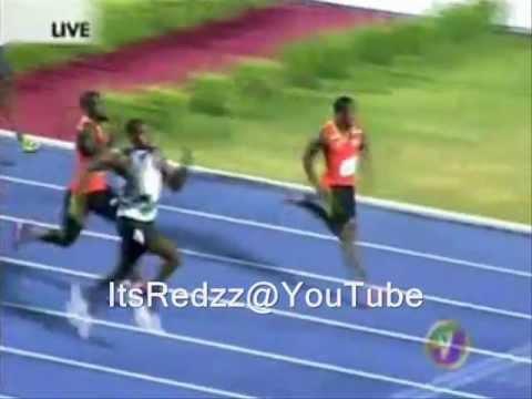 YOHAN BLAKE WINS USAIN BOLT IN MEN'S 200M RACE IN JAMAICA