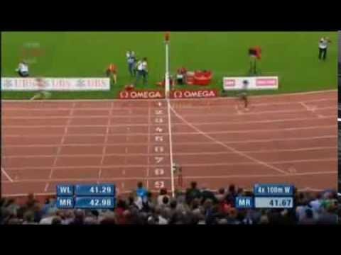 USA Defeats Jamaica in Women's 4X100M Relay At Zurich Diamond League 2013