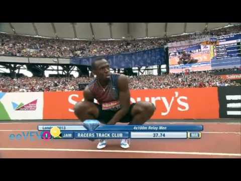 Mens 4x100m Relay (Racers Track Club) - Sainsbury's Anniversary Games - IAAF Diamond League