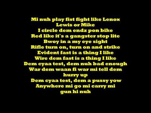 Vybz Kartel - Cya Test We Lyrics [Phase One Riddim] August 2014