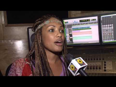 HOLLYWOOD ACTRESS KD AUBERT RECORDS IN JAMAICA