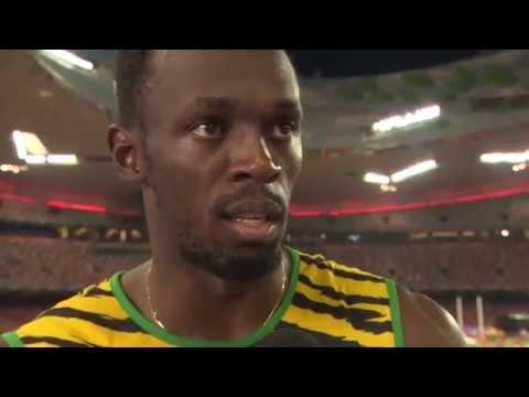 Usain Bolt JAM 100m After Destroying Justin Gatlin Final Gold WHC 2015 Beijing