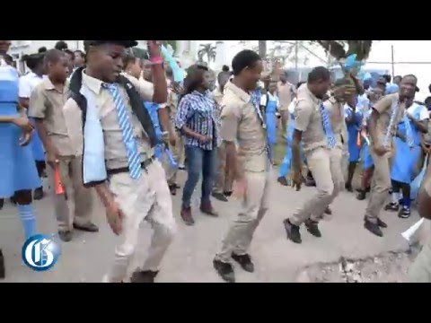Edwin Allen High celebrates Girls' Champs win
