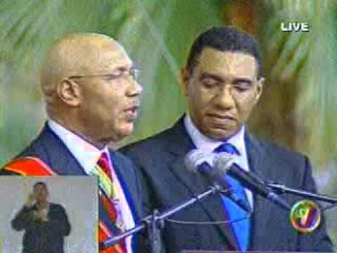 ANDREW HOLNESS   SWEARING IN CEREMONY JAMAICA PART 2