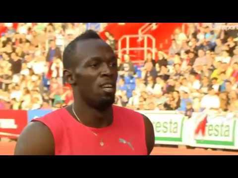 Usain Bolt Dominates the Field in 9 98  0 4 Men's 100m Ostrava Golden Spike 2016