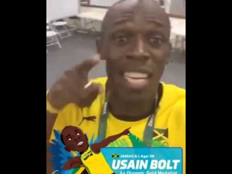 Usain Bolt Vibing to Popcaan World Cup - We Still A WIN!!!!