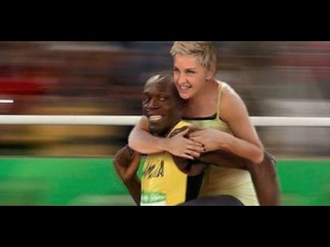 Ellen Degeneres Accused Of Racism Over Usain Bolt Tweet And Defends Altered Photo With Usain Bolt
