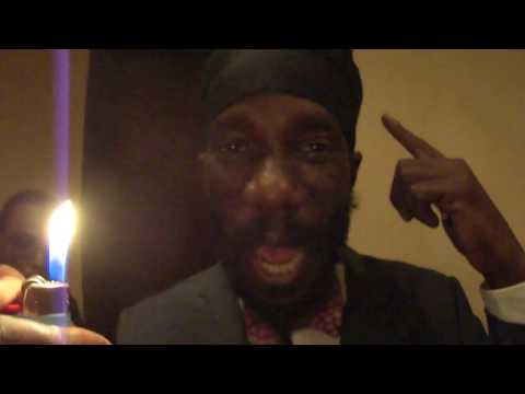 """Sizzla Kalonji - Message to the World """"Never Give Up"""" Filmed By Cool Breeze Live at BB King NYC"""
