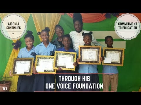 AIDONIA is committed to Education, Awarding FIVE New SCHOLARSHIPS through His ONE VOICE FOUNDATION