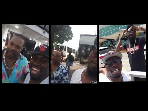 Foota Hype Chilling With Busta Rhymes Spliff Star & Beenie Man On The Yacht
