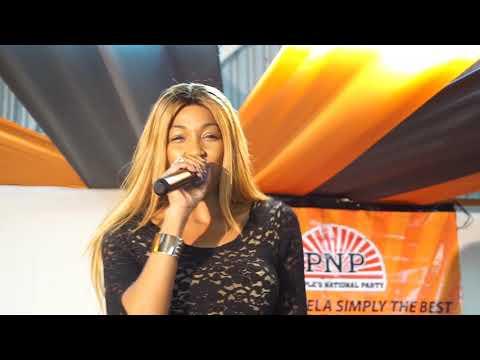 D'Angel live performance @angella burke political ceremony
