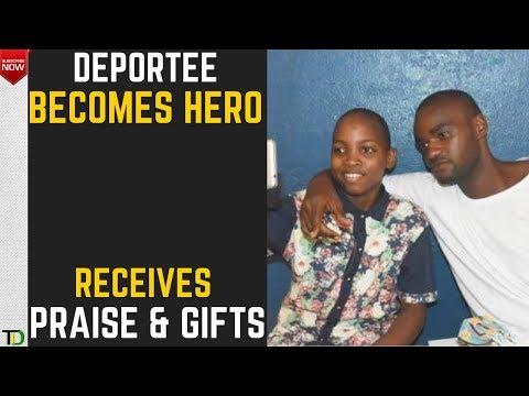 DEPORTEE Tremayne Brown now a HERO after SAVING Boy's Life - PRAISES, REWARDS, GIFTS & JOB OFFERS!