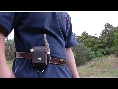 Bushcrafter's EDC: Leather & Canvas Expandable Dump Pouch!