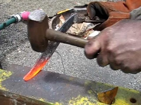 How to forge a knife Part 1 of 2