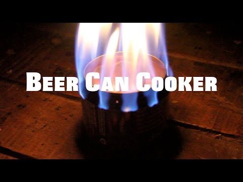 D.I.Y beer can burner/cooker