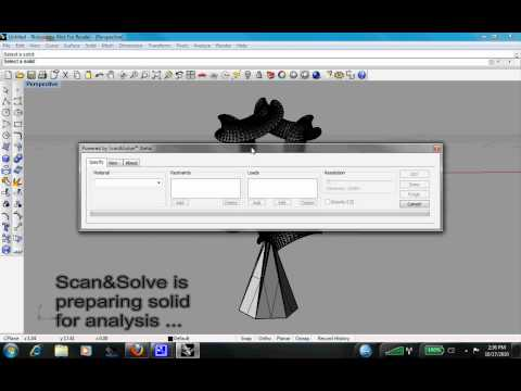 Scan&Solve on STL Model of Free-Form Sculpture