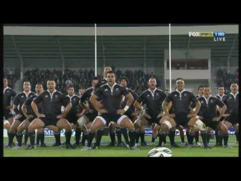My favorite Haka! Very powerful and scary- the tongue poking and wide eyes are called 'Pukana'.