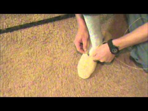 Pucker toe, center seam moccasins