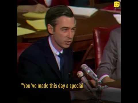 Mister Rogers Delivers POWER Speech to Senators!