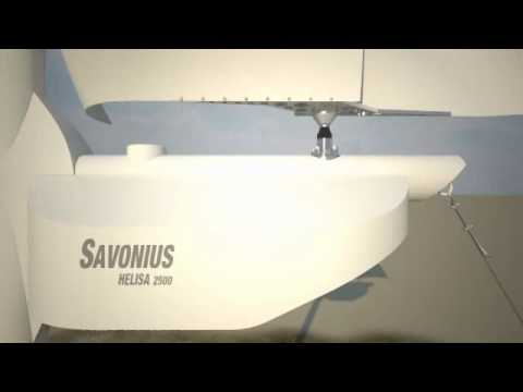 Savonius Helisa 2500 wind turbine, Animation: Rhino + Bongo