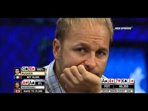 WSOP Main Event 2012 - Daniel Negreanu BRUTAL bad beat