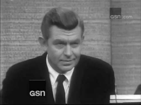 What's My Line? - Andy Griffith; PANEL: Steve Allen, Suzy Knickerbocker (Feb 19, 1967)