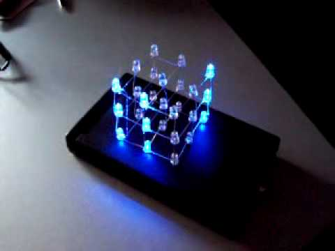 *** LED Cube 3x3x3 *** [with case and 22 animations / effects]