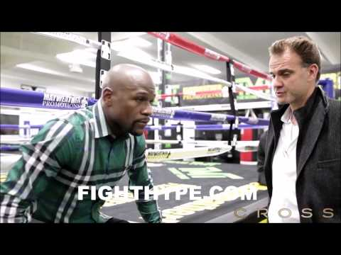 FLOYD MAYWEATHER DISCUSSES HISTORIC CONTRACT SIGNING FOR MANNY PACQUIAO FIGHT