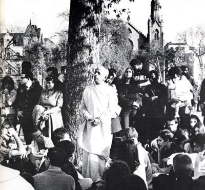 Srila Prabhupada, Tomkin Square Park - Hare Krishna Tree