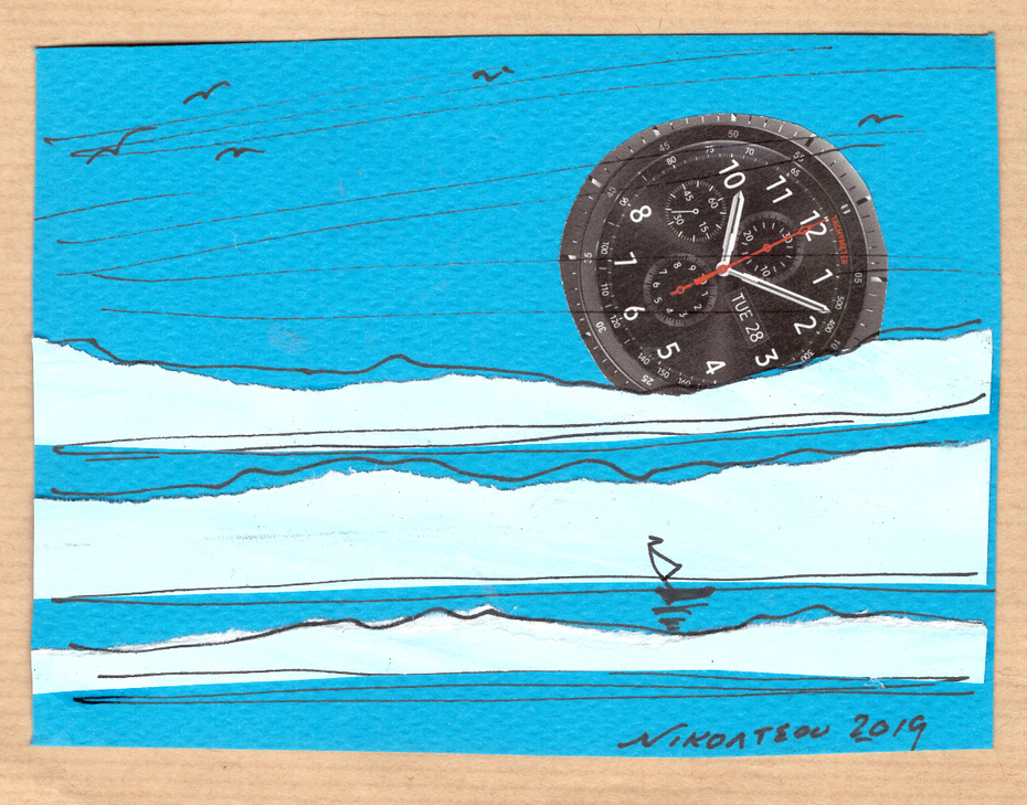 "collage card from Katerina Nikoltsou, thema ""circles"""