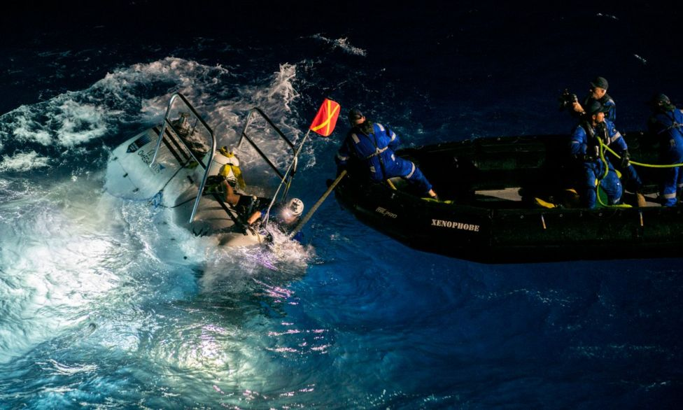 BBC News: Mariana Trench: Deepest-ever sub dive finds plastic bag