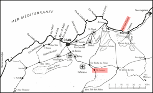 Carte des environs