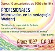 Charla informativa sobre pedagogía waldorf.