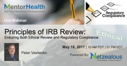Webinar on 2017 Principles of IRB Review