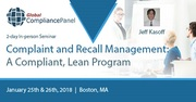 Complaints and Recalls | Complaint Handling System in Boston 2018