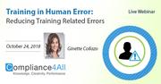 Reducing Training Related Errors (Human Error Trainings)