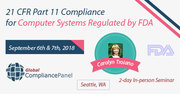 21 CFR Part 11 Compliance for Computer Systems Regulated by FDA