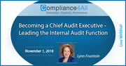 Audit Executive - Leading the Internal [Audit Function]